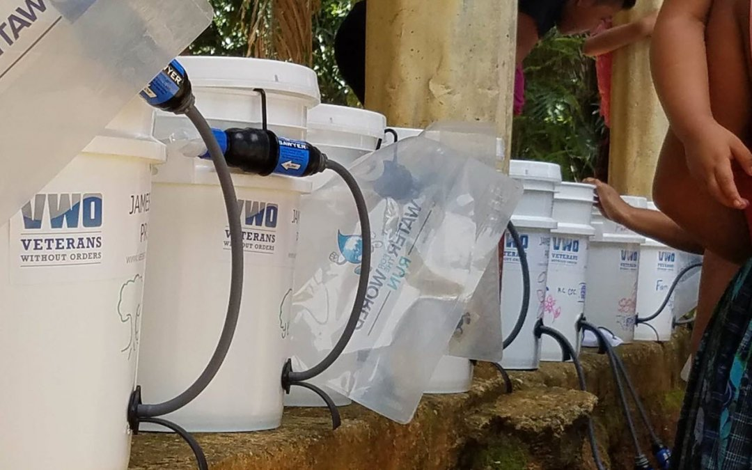 Water Filtration Buckets Solving Water Crisis with Help of Military Vets